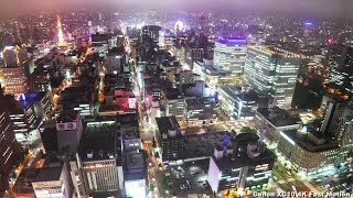 getlinkyoutube.com-Canon XC10 Review 4k Examples   札幌JRタワーからの夜景 Night view from Sapporo JR Tower
