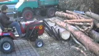 Rasentraktor Frontlader u. Holzspalter