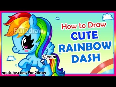 How to Draw A Rainbow Dash My Little Pony