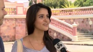 getlinkyoutube.com-Fifa World Cup couple (Lorena & Matt) Brazil TV Interview during Dias dos Namorados