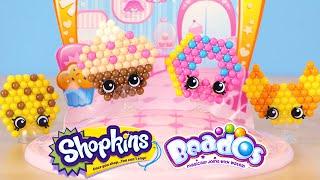 getlinkyoutube.com-Beados Shopkins Tastee Bakery Activity Toy Set - All Designs Complete