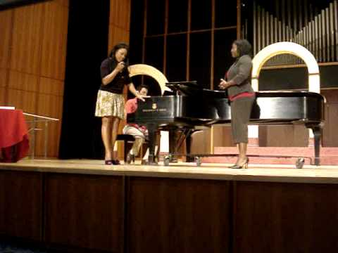 Denyce Graves Masterclass with Shala Whitehaed singing, &quot;Give Me Jesus&quot; Arr. Moses Hogan Part 1