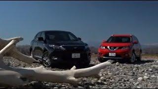 getlinkyoutube.com-特別動画 トヨタ ハリアー ハイブリッド VS 日産 エクストレイル(試乗比較編)