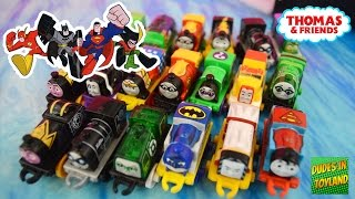 getlinkyoutube.com-Thomas MINI trains DC Super Friends Superheroes - Thomas & Friends Batman Superman toys videos