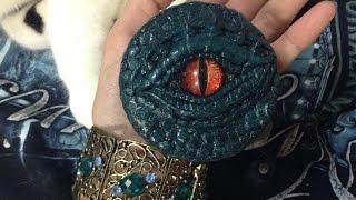 レジンと粘土でドラゴンアイの小物入れ、スマホケース、ドール用アクセサリーを作ってみた☆ i made Dragon eye -Polymer Clay ※販売目的禁止。趣味で楽しみましょう