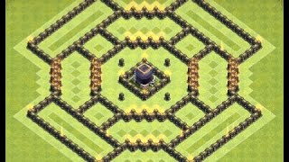 getlinkyoutube.com-Th9 farming base + replays | Th9 dark elixir farming base | Diseño de aldea | Clash of clans