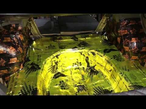 Виброизоляция Nissan Teana. Сверкающие виброизоляционные материалы первого слоя завораживают взгляд