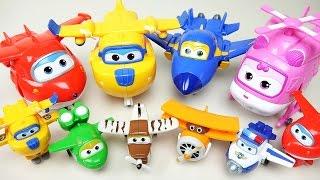 getlinkyoutube.com-Super Wings 출동슈퍼윙스 와 로보카 폴리 미니특공대 장난감 SuperWings & Poli toys 変身飛行機のおもちゃ