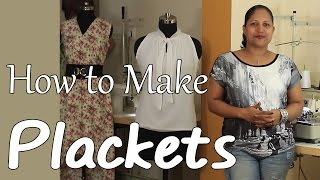Class 17 - How to make Plackets