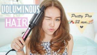 getlinkyoutube.com-Hair Tutorial : How I get my Voluminous Hair ม้วนผมวอลลุ่มง่ายๆ | wonderpeach