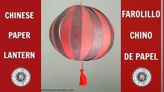 getlinkyoutube.com-Farolillo chino de papel / Chinese paper lantern