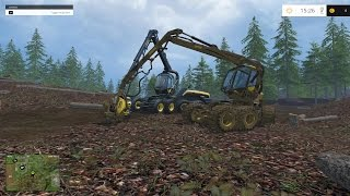 getlinkyoutube.com-Farming Simulator 2015 Wood Cutting Part 2