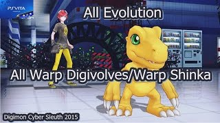 getlinkyoutube.com-Digimon Cyber Sleuth - All Warp Digivolves/Warp Shinka/Mega Levels! PSVITA -PS4 English in 2016 デジモン