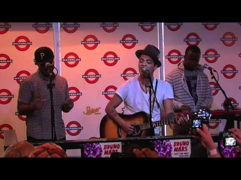 "Bruno Mars performs ""Count On Me"" live at Waterloo Records in Austin TX"