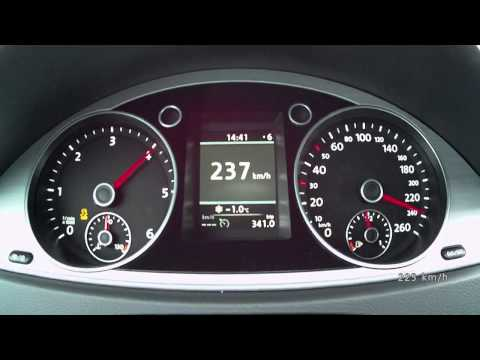 VW Passat 2,0 TDI 177 PS R-Line 2014 - acceleration 0-220 km/h, top