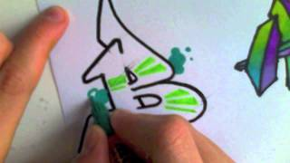 getlinkyoutube.com-Let's Graff n°1 I A,B,C I Enjoy!