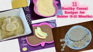 getlinkyoutube.com-Homemade Baby Food Recipes - 11 cereal recipes for 6 to 12 months old- breakfast, lunch, dinner