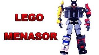 getlinkyoutube.com-Lego Transformers G1 Stunticons: Menasor 2.0