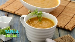 getlinkyoutube.com-Carrot and Coriander Soup (Low Calorie) by Tarla Dalal