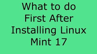 getlinkyoutube.com-What To Do After Installing Linux Mint 17 - Franks Helpdesk