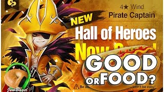 getlinkyoutube.com-SUMMONERS WAR : Barque the Wind Pirate Captain Hall of Heroes - Good or Food?