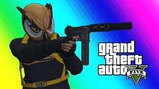 getlinkyoutube.com-GTA 5 Online Funny Moments - Bat Owl and the Superhero Squad!