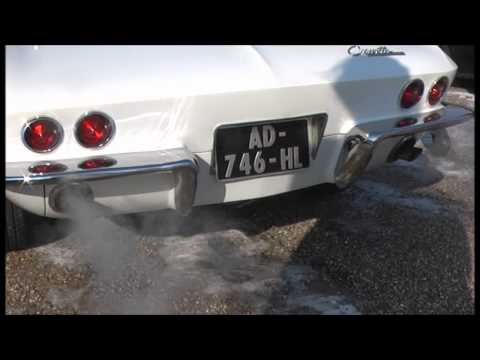 Corvette C2 Sting Ray 327ci V8 sound and turn around