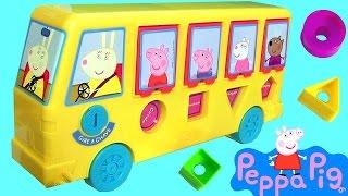 getlinkyoutube.com-Ônibus de Atividades da Peppa Pig Elka com Pig George Brinquedos em Portugues Brasil ToysBR Rihappy