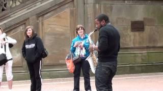 getlinkyoutube.com-This awesome Saxophone player Rakiem Walker at Centeral Park NewYork