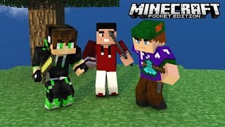 getlinkyoutube.com-Minecraft PE 0.11.1 : SkyWars - Time com Inscrito