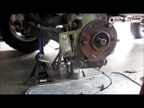 Easy Nissan Titan wheel bearing / hub removal