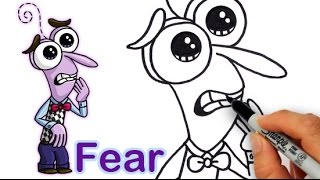 getlinkyoutube.com-How to Draw Fear from Pixar Inside Out Cute step by step