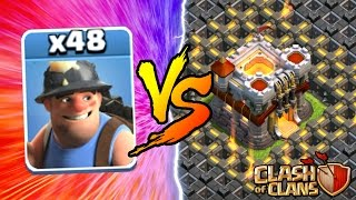 getlinkyoutube.com-Clash Of Clans | ALL MINERS vs TOWN HALL 11! NEW INSANE GAME PLAY! | MAY 2016 UPDATE!