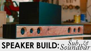 getlinkyoutube.com-2.1 Soundbar System With Sub | DIY Speaker Build