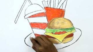 getlinkyoutube.com-How to Draw a Junk Food