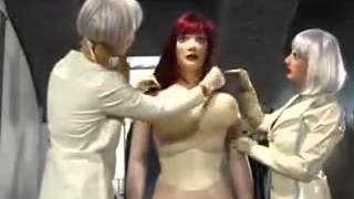 getlinkyoutube.com-Transformation d'un soumise en poupée de latex