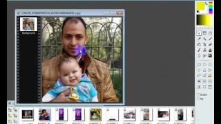 اسهل طريقه شرح برنامج PhotoFiltre 7 لعمل خلفيات للصور