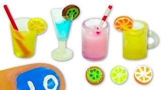 getlinkyoutube.com-Miniature doll glass, cup, mug or jar and fruit slices Tutorial DIY - YolandaMeow♡