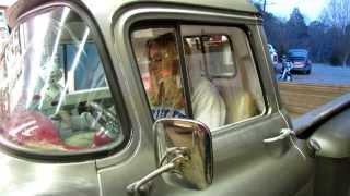 getlinkyoutube.com-Sunday- A 55 Chevy truck and a Harley