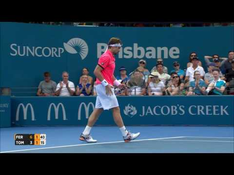 David Ferrer v Bernard Tomic highlights (1R) | Brisbane International 2017