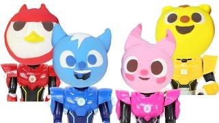 getlinkyoutube.com-Mini Force Clay Toys 말랑말랑 클레이로 미니특공대 장난감 얼굴 만들기