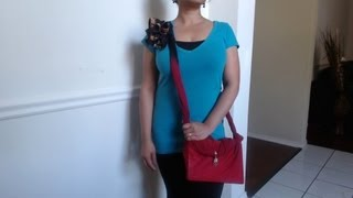 getlinkyoutube.com-How to make no sew side sling bag with just a scarf - Request video