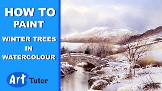 getlinkyoutube.com-How to Paint Winter Trees in Watercolours