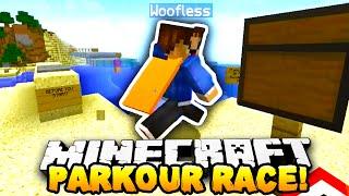 getlinkyoutube.com-Minecraft - ISLAND PARKOUR RACE! - w/PrestonPlayz & Woofless