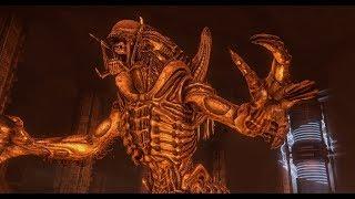 getlinkyoutube.com-Aliens V.S. Predator Walkthrough Finale: Pyramid (PredAlien Boss Fight) - Predator Campaign