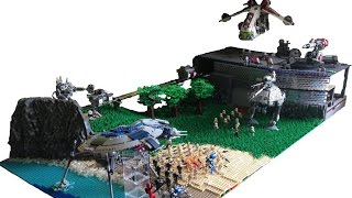 getlinkyoutube.com-Huge Lego Star Wars Clone Base on Concordia