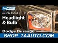 How To Install Replace Headlight and Bulb Dodge Durango 04-06 1AAuto.com