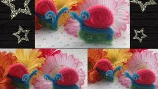 getlinkyoutube.com-CARACOL HECHO  CON LIMPIA PIPAS.- PIPE CLEANERS SNAIL .