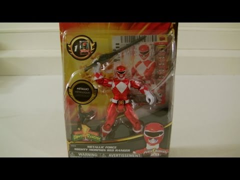Power Rangers MMPR METALLIC FORCE RED RANGER toy review/comparison