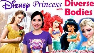 Art Challenge - Disney Princess with DIVERSE BODIES ❤ New Art Challenges